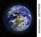 earth in space vector.elements...   Shutterstock .eps vector #283794008