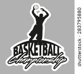 basketball emblem for... | Shutterstock . vector #283795880