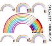 colour pencils isolated on... | Shutterstock .eps vector #283797860