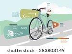 summer sports statistics... | Shutterstock .eps vector #283803149