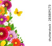 Border From Flowers With...
