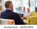 senior couple at home meeting... | Shutterstock . vector #283815896