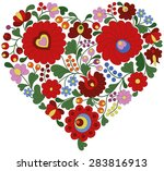 heart made with traditional... | Shutterstock .eps vector #283816913