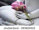 Lotus Flower On Buddha Image