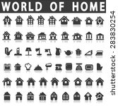 vector icons home and house | Shutterstock .eps vector #283830254