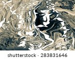 colorful abstract drawing  ... | Shutterstock . vector #283831646
