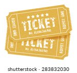 a set of two brown tickets | Shutterstock .eps vector #283832030