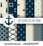 set of sea and nautical... | Shutterstock .eps vector #283840499