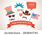 costume props for independence... | Shutterstock .eps vector #283844744