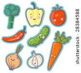 tasty vegetables   cartoon... | Shutterstock .eps vector #28384588