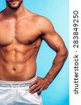 fitness instructor studio shot... | Shutterstock . vector #283849250