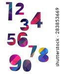 number vector design symbol... | Shutterstock .eps vector #283853669