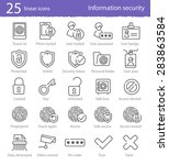 25 information security vector... | Shutterstock .eps vector #283863584