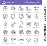 25 information security vector... | Shutterstock .eps vector #283863584