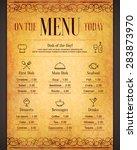 restaurant menu design. vector... | Shutterstock .eps vector #283873970