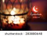 ramadan greetings background.... | Shutterstock .eps vector #283880648