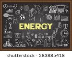 doodles about energy on... | Shutterstock .eps vector #283885418
