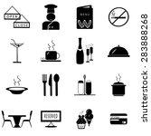 restaurant icons set... | Shutterstock .eps vector #283888268