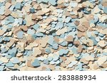 colorful paper heart shapes... | Shutterstock . vector #283888934