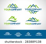 real estate logo. creative real ... | Shutterstock .eps vector #283889138