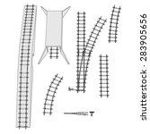 cartoon image of railway parts | Shutterstock . vector #283905656
