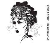asian girl | Shutterstock .eps vector #283911536