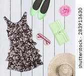 collage of summer clothes | Shutterstock . vector #283913630