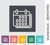 calendar with padlock. single... | Shutterstock .eps vector #283925450