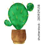 Watercolor Succulent Houseplan...