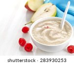 bowl of baby food  healthy... | Shutterstock . vector #283930253