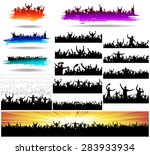 set banners for sporting events ... | Shutterstock .eps vector #283933934