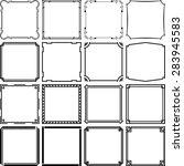 simple frames  set 6  | Shutterstock .eps vector #283945583