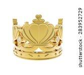 isolated golden crown  | Shutterstock . vector #283952729