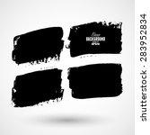 set of black grunge banners | Shutterstock .eps vector #283952834