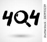 grunge icon with text 404 ...