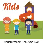 kids design over white... | Shutterstock .eps vector #283955360