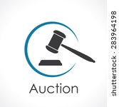 auction. icon  | Shutterstock .eps vector #283964198