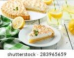 Lemon Meringue Pie On Plate On...