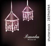 ramadan mubarak | Shutterstock .eps vector #283966964