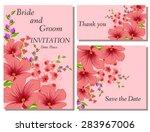 wedding flower invitation ... | Shutterstock .eps vector #283967006