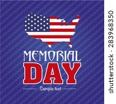 abstract memorial day with some ... | Shutterstock .eps vector #283968350
