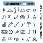 construction and repair icons... | Shutterstock .eps vector #283975139