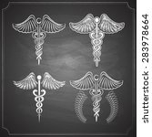 medicine symbols collection... | Shutterstock .eps vector #283978664