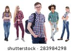 school concept   handsome... | Shutterstock . vector #283984298