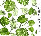 tropical leaves design for...   Shutterstock .eps vector #283985216