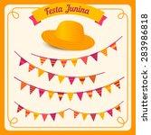 festa junina illustration  ... | Shutterstock .eps vector #283986818