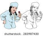 vector illustration  coloring... | Shutterstock .eps vector #283987430