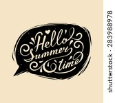 vector hand lettering... | Shutterstock .eps vector #283988978