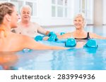 people young and senior in... | Shutterstock . vector #283994936