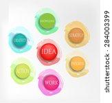 modern  abstract  watercolor... | Shutterstock .eps vector #284003399